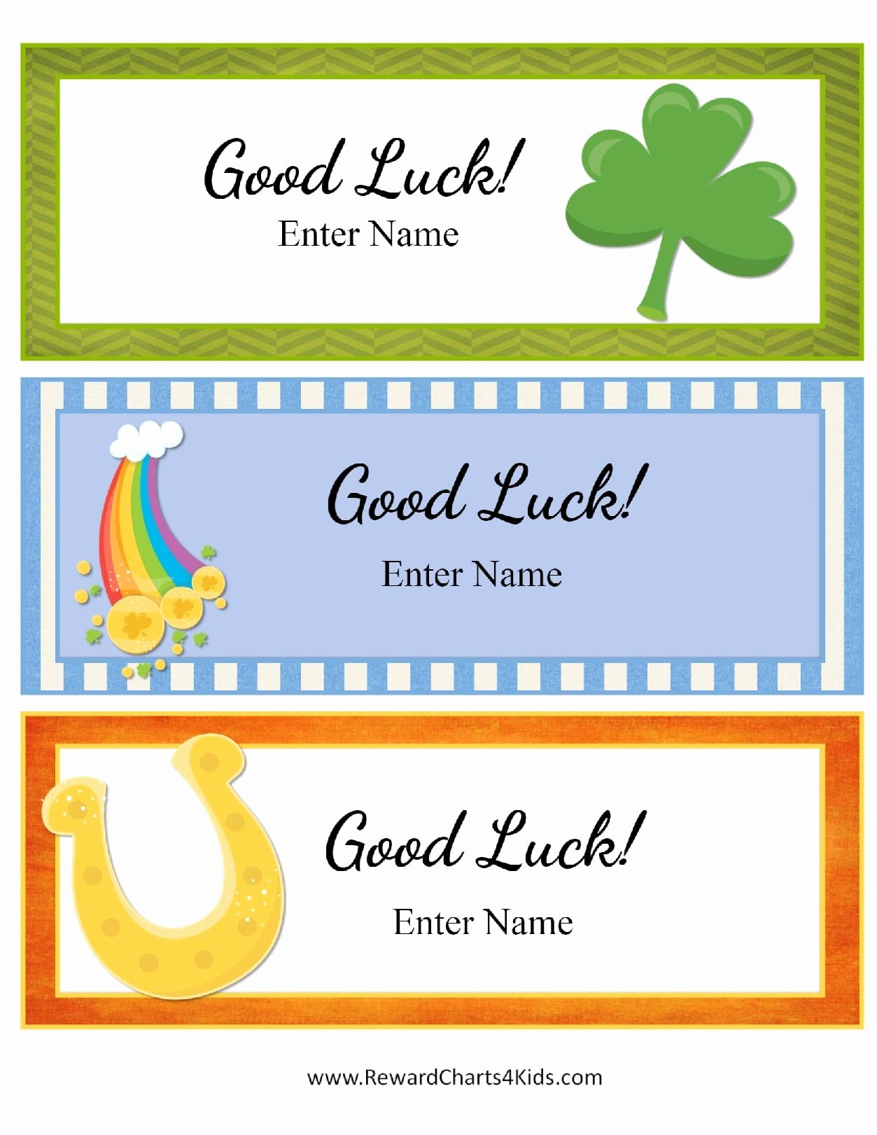 Good Luck Card Template Portablegasgrillweber