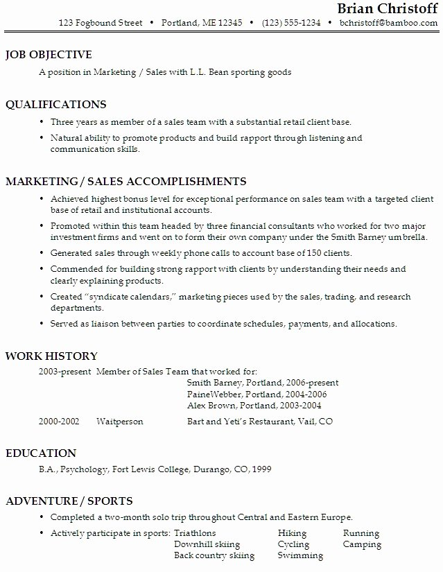 Good Objective for Sales Resume Best Resume Gallery