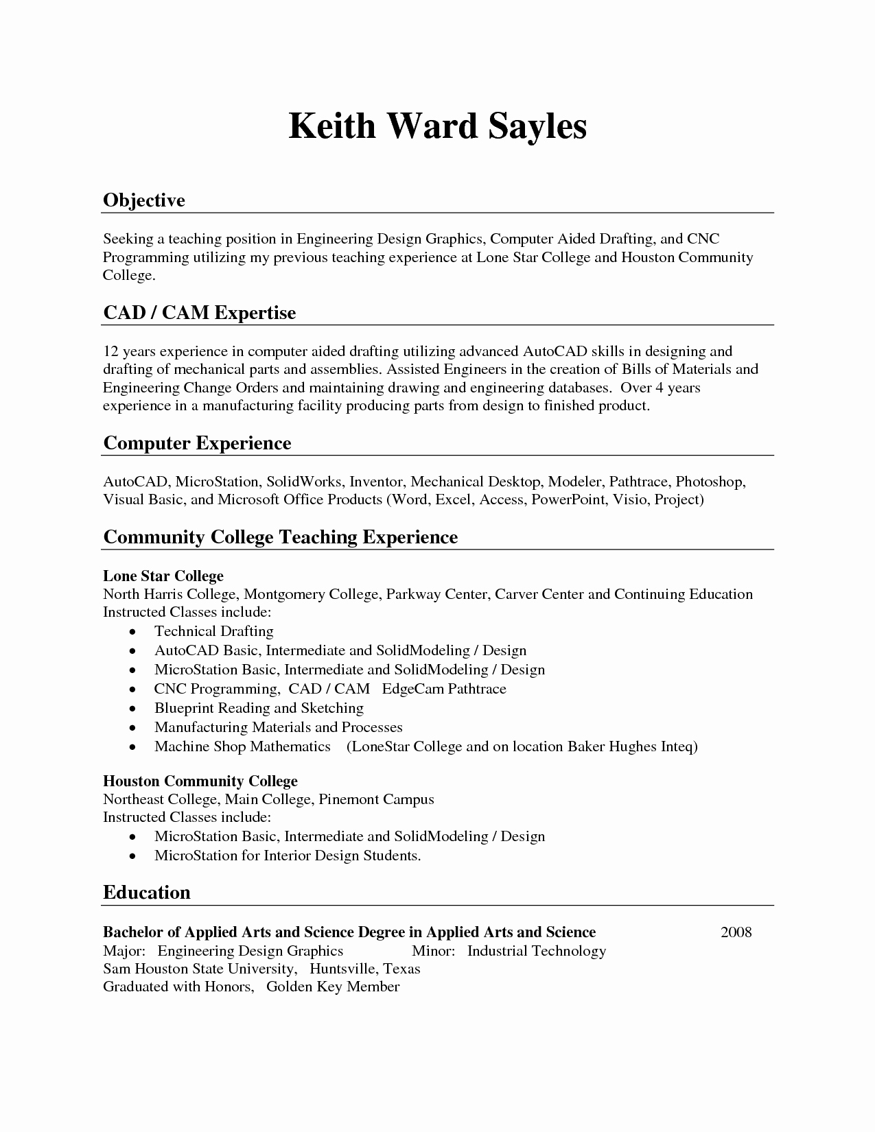 Good Opening Lines for Resumes Resume Ideas