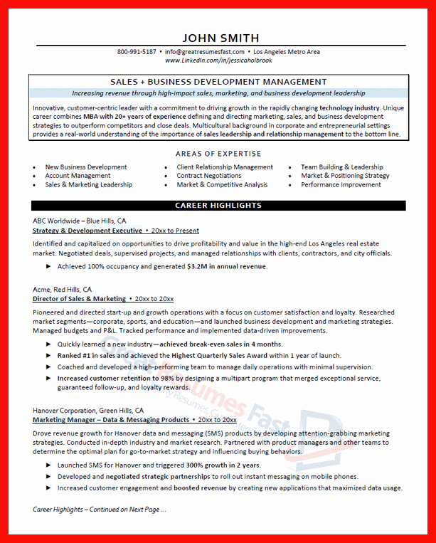 Good Resume Examples 2017