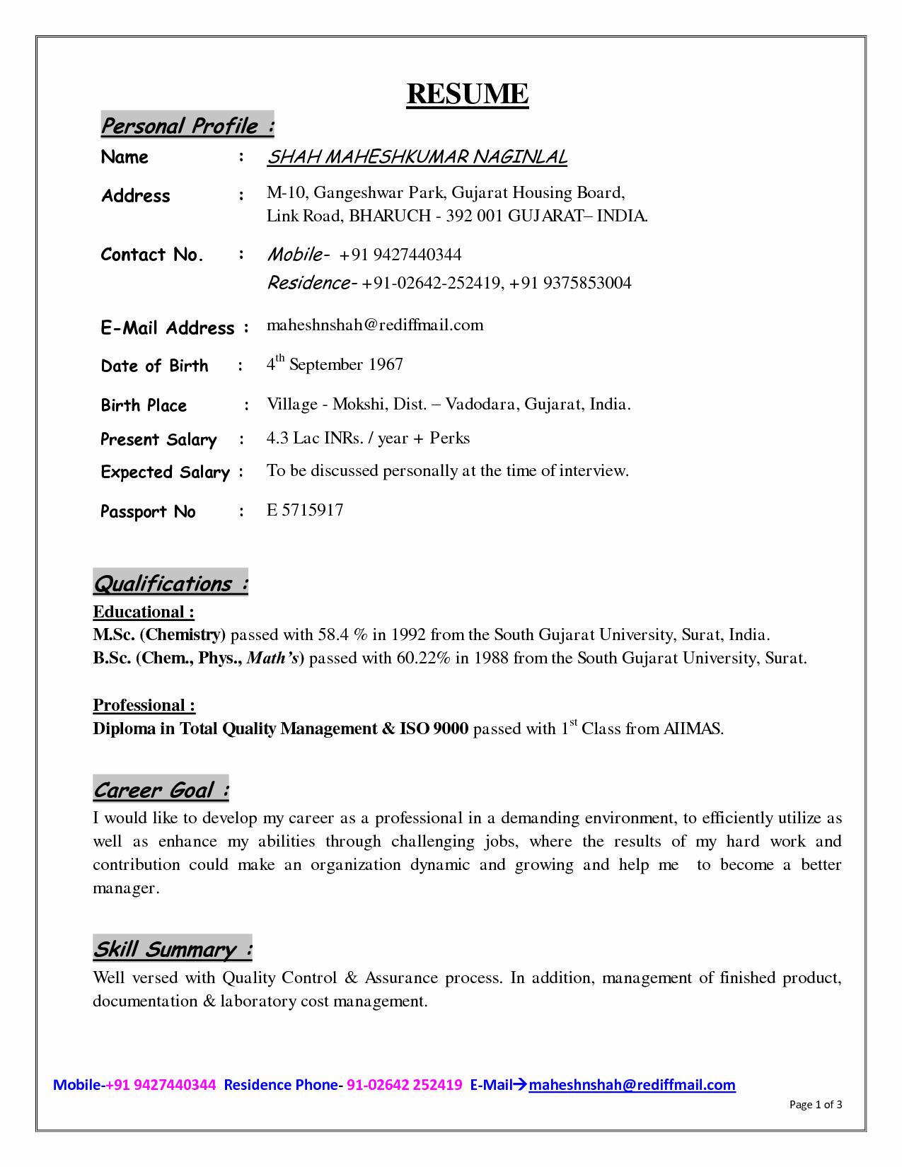 Good Resume Profile Examples 2016 Samplebusinessresume