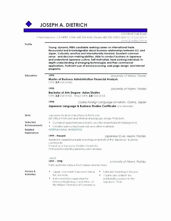 Good Resume Profile Examples Sarahepps