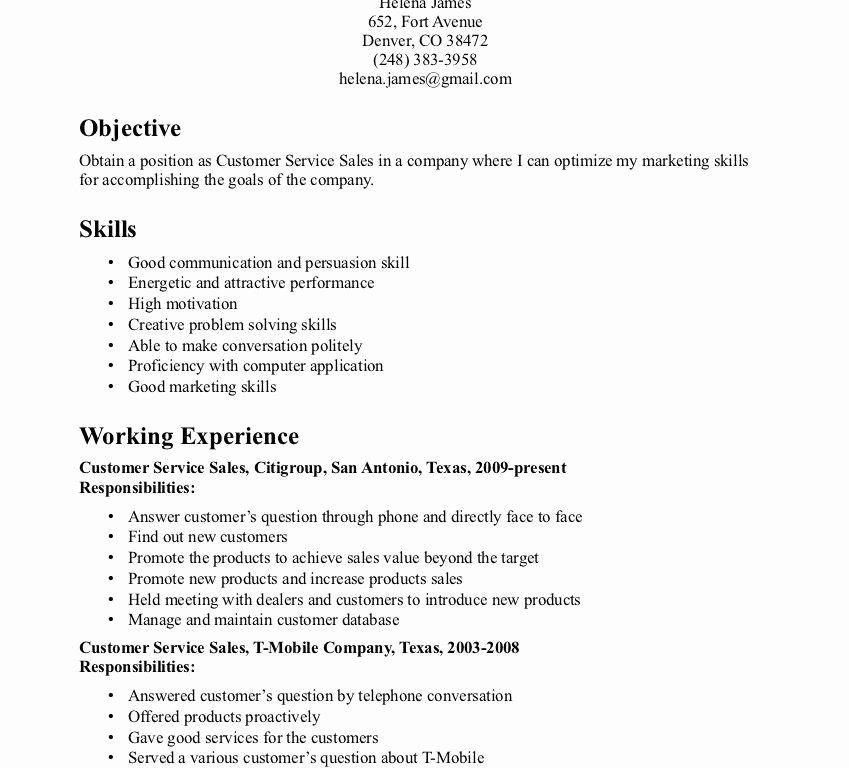 Good Resume Skills Examples Best Resume Gallery