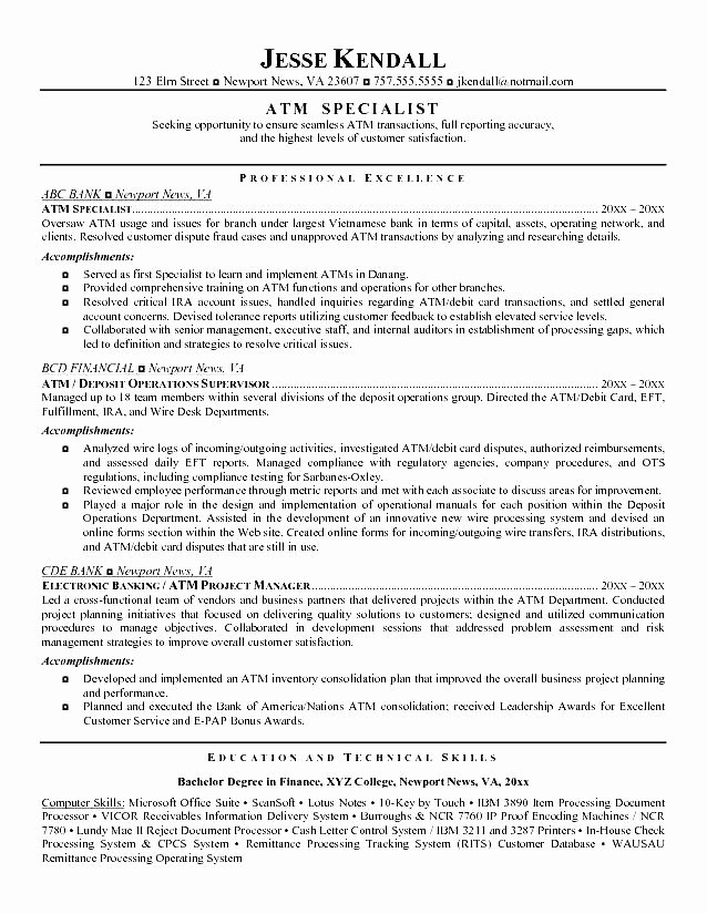 Good Teller Resume Example Free Samples Examples