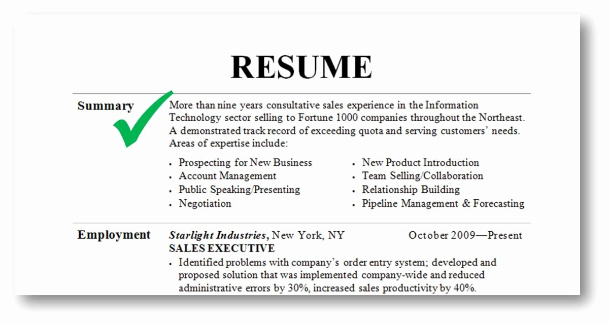Good Things to Put In Your Resume