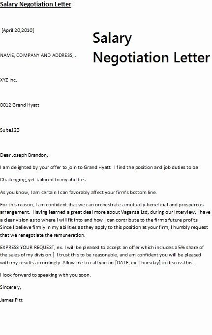 Goodly Salary Counter Fer Letter – Letter format Writing