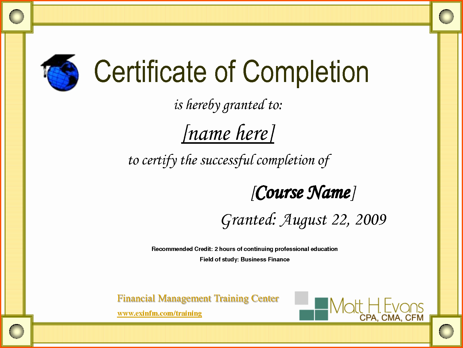 Google Certificate Templates Printable to Pin On
