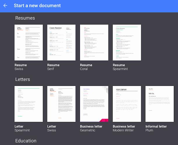 Google Doc Template