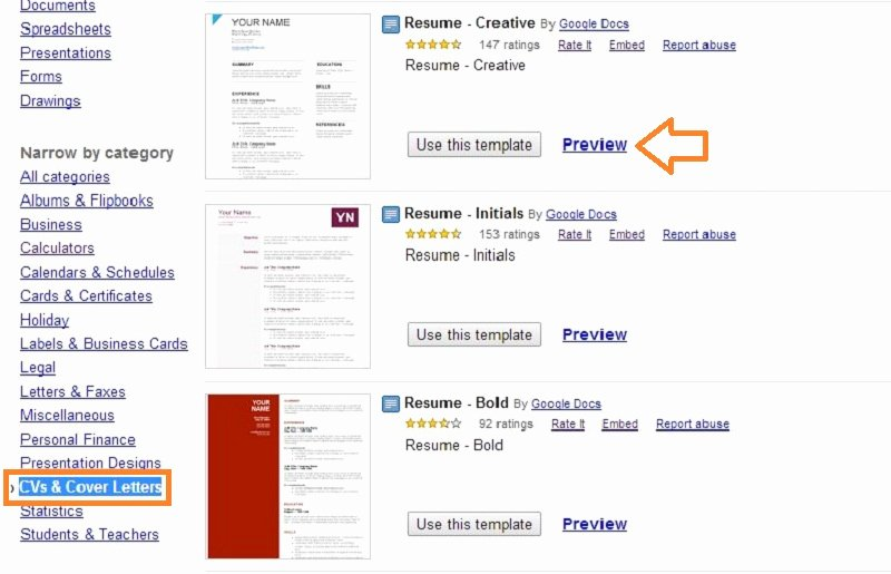 Google Doc Templates