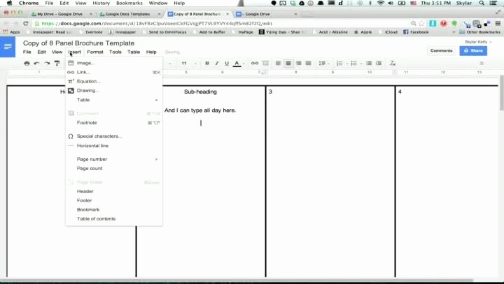 Google Docs Brochure Template