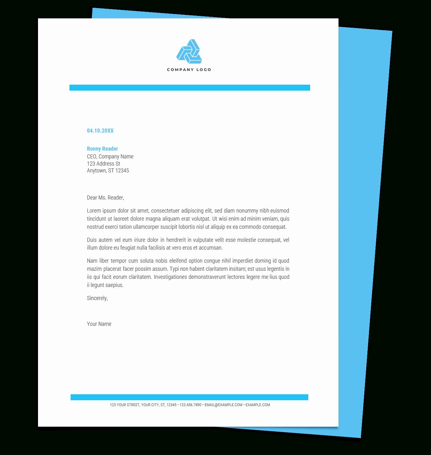 google docs free letterhead