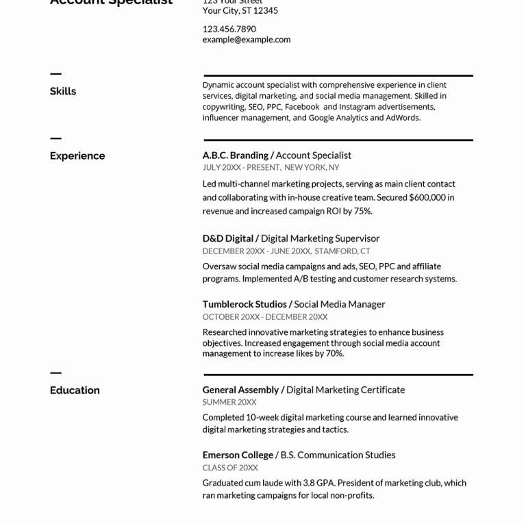 Google Docs Resume Template English – ifa Rennes
