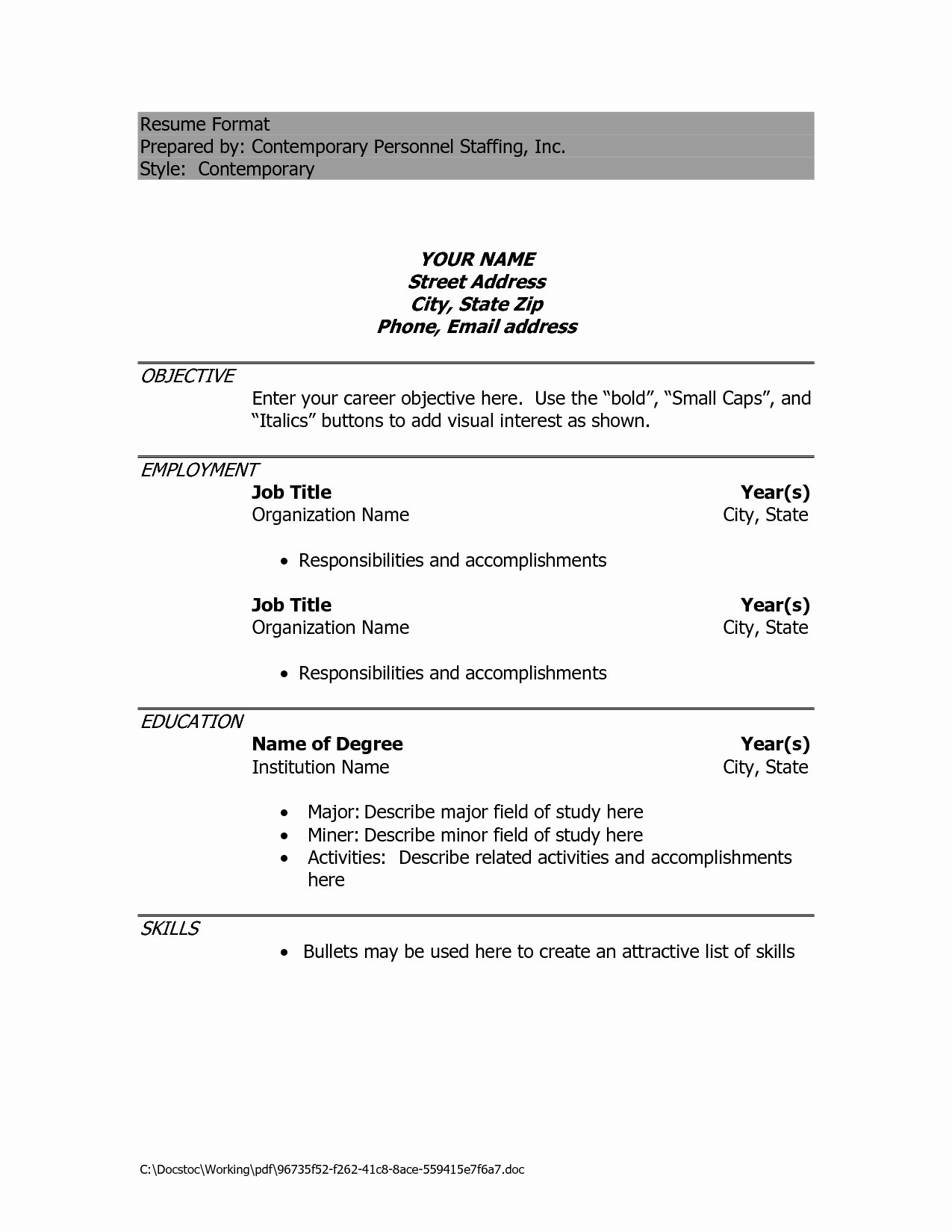 Google Docs Resume Template Free Cover Letter Samples