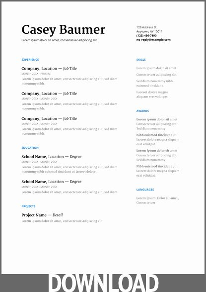 Google Docs Resume Template Oursearchworld