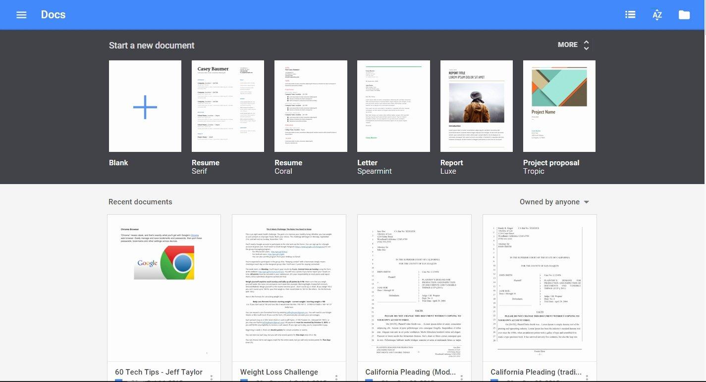 Google Docs Template