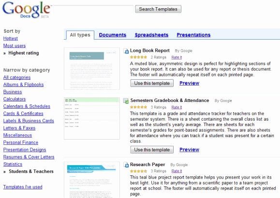 Google Docs Templates