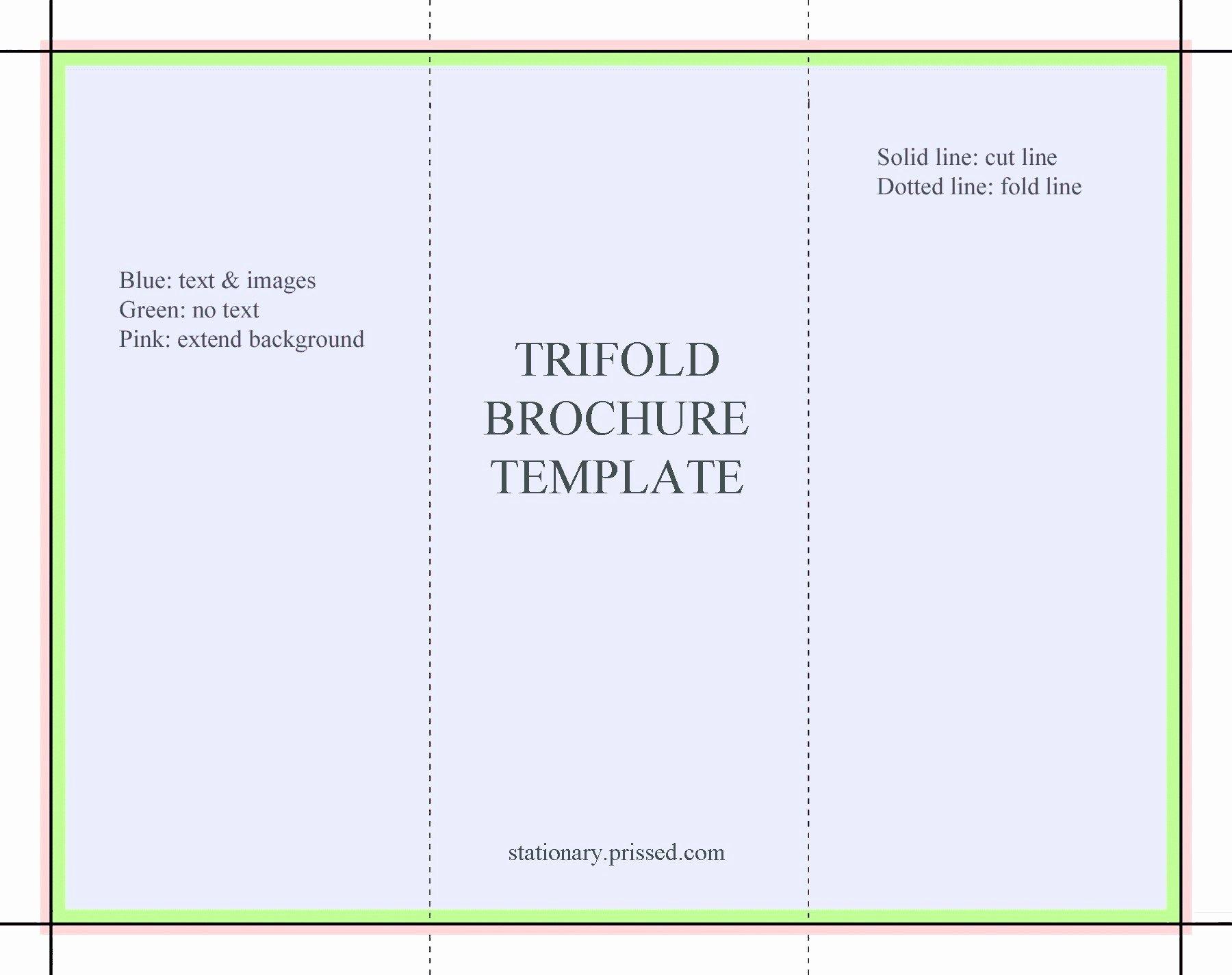 Google Docs Trifold Template