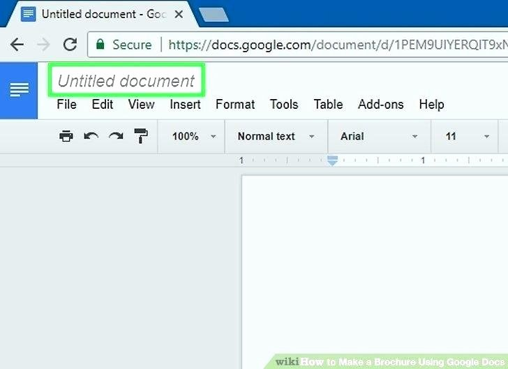 Google Drive Brochure Template – Marginesfo