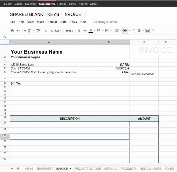 Google Spreadsheet Templates