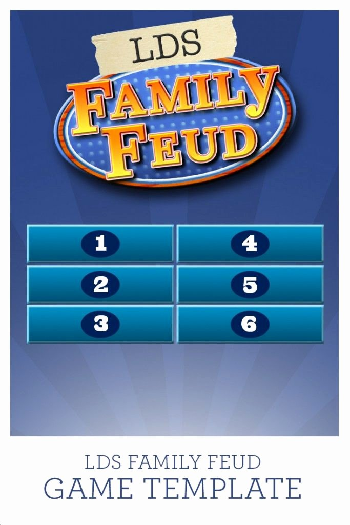 Gospel Game Night Apostle Prophet Trivia Lds Family Feud