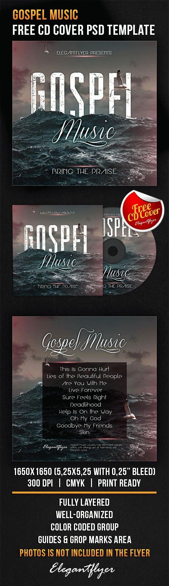 Gospel Music – Free Cd Cover Psd Template – by Elegantflyer