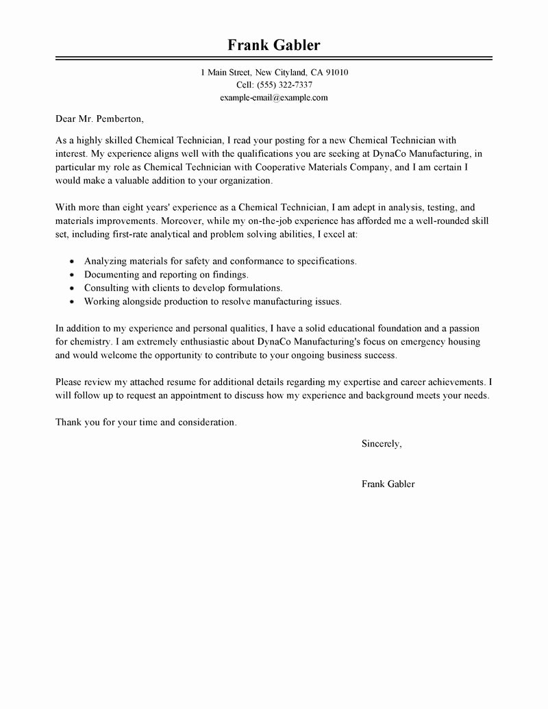 Government & Military Cover Letter Examples