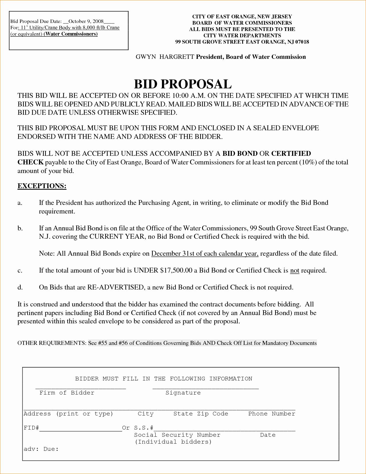 Government Bid Proposal Template