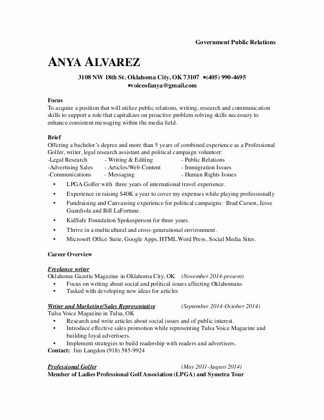 Government Relations Resume Example Profile Resume Best