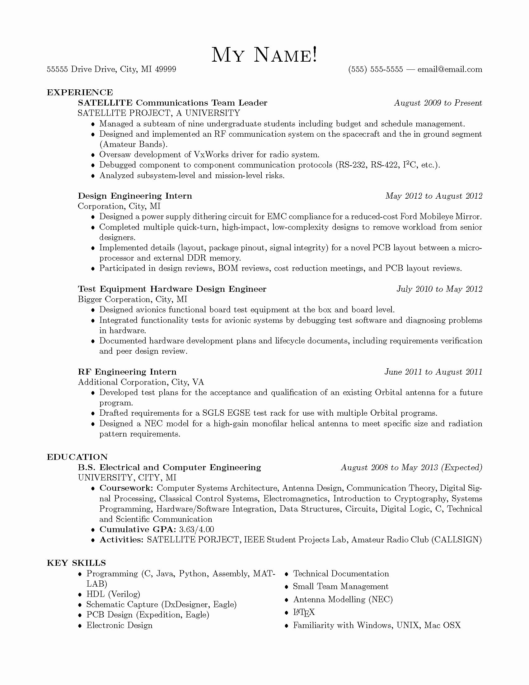 Gpa Resume Engineering Sidemcicek