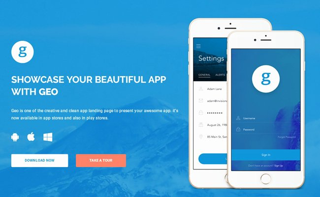 Grab This Month's May Free App Landing Page Template