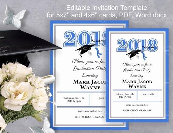 Grade Party Invitation Template Diy Invitation Edit