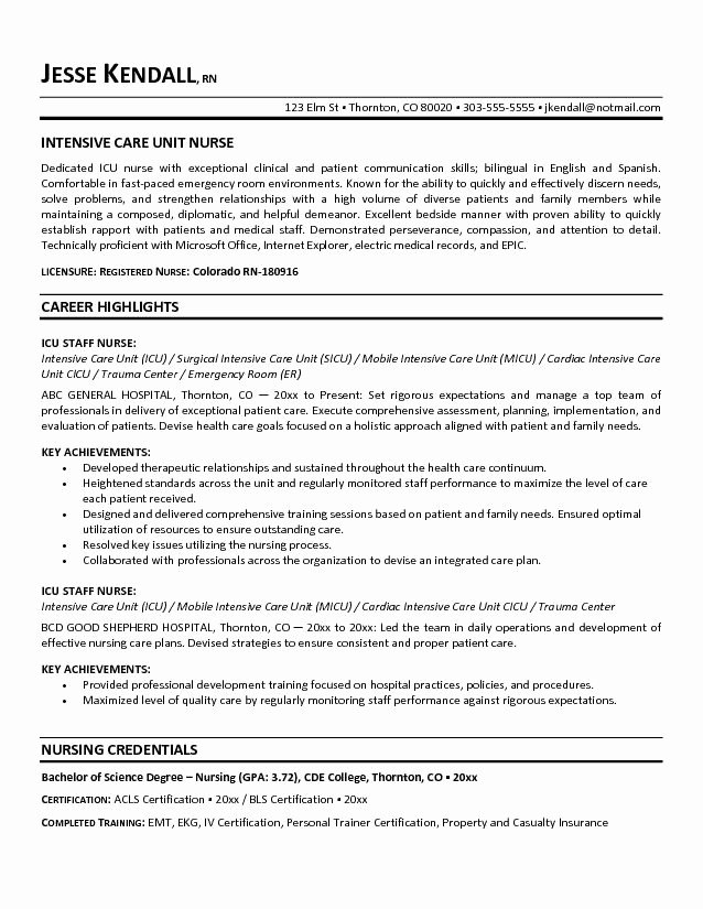 Graduate Nurse Resume Objective Statement