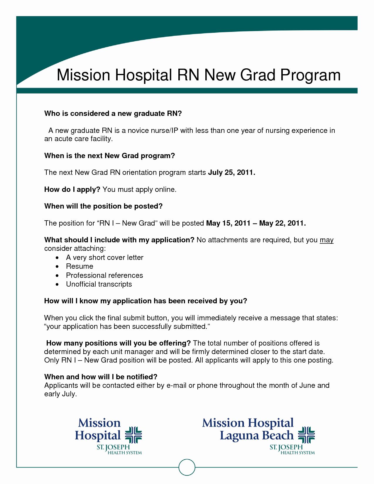 Graduate Nurse Resume Template Resume Ideas