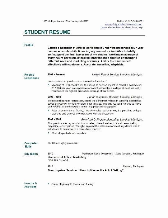 Graduate Student Resume