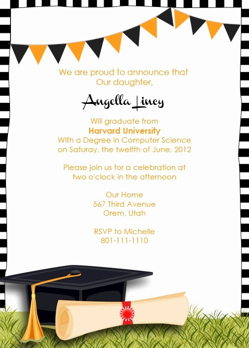 Graduation Announcement Templates Free Invitation Template
