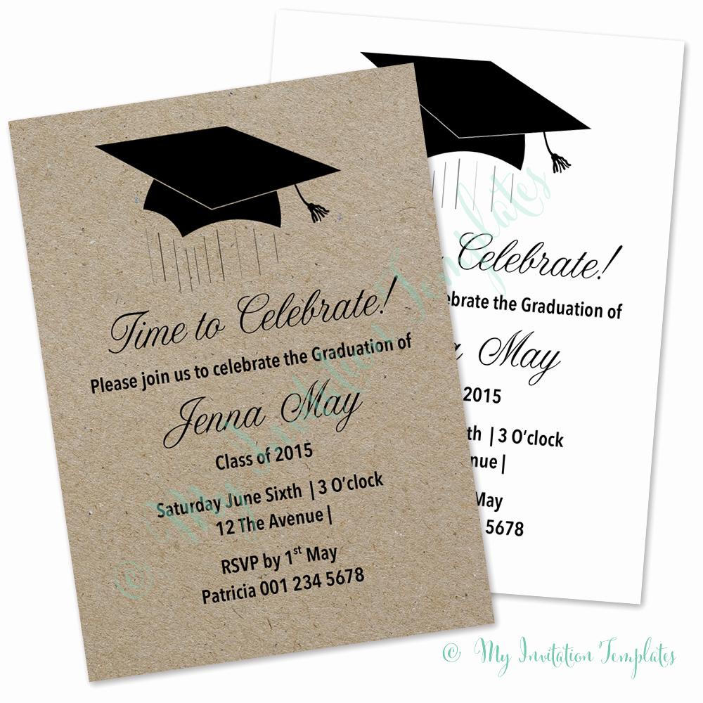 Graduation Card Invitation Templates
