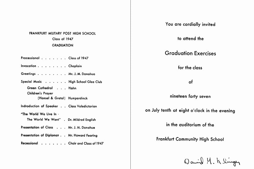 Graduation Ceremony Program Template Template