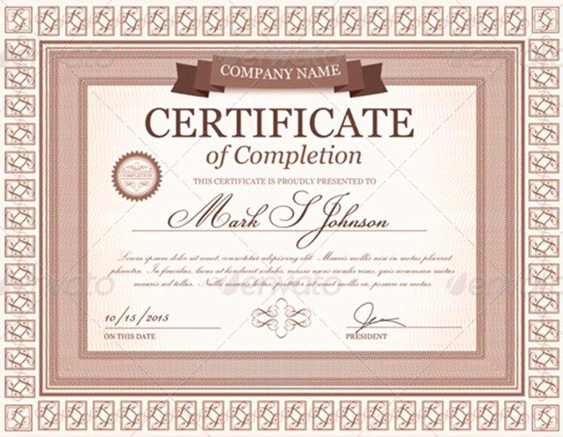 Graduation Certificate Templates Creativetemplate
