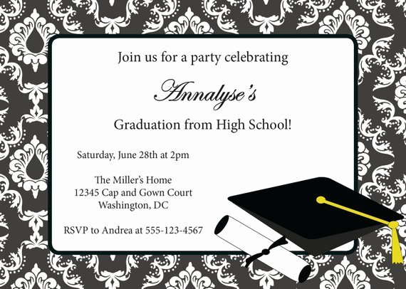 Graduation Invitation Many Colors Available Diy Printable