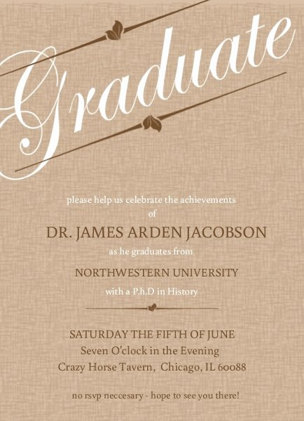 Graduation Invitation Templates College Graduation