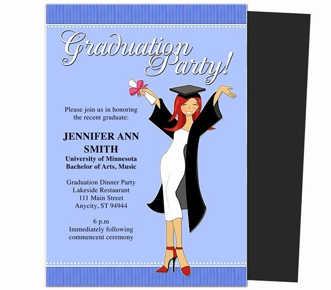 Graduation Party Invitations Templates 2018