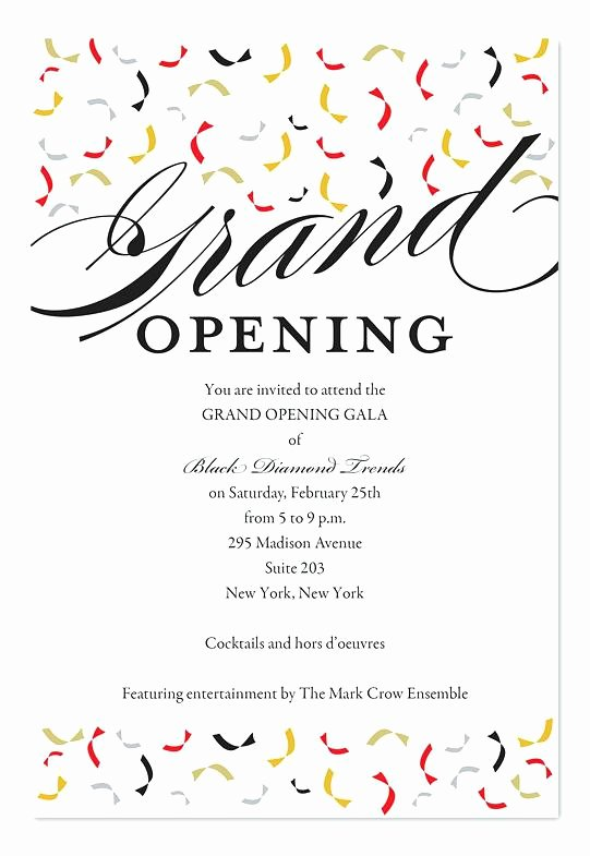 Grand Opening Announcement Trendy Opening Corporate