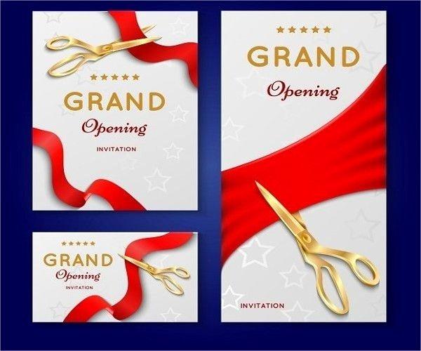 Grand Opening Invitation Template 2018