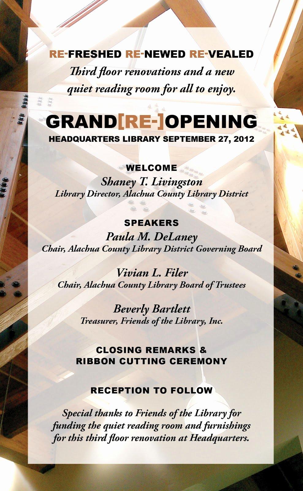 Grand Reopening Invitation