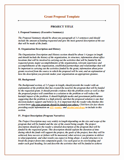 Grant Proposal Template Download Create Edit Fill and