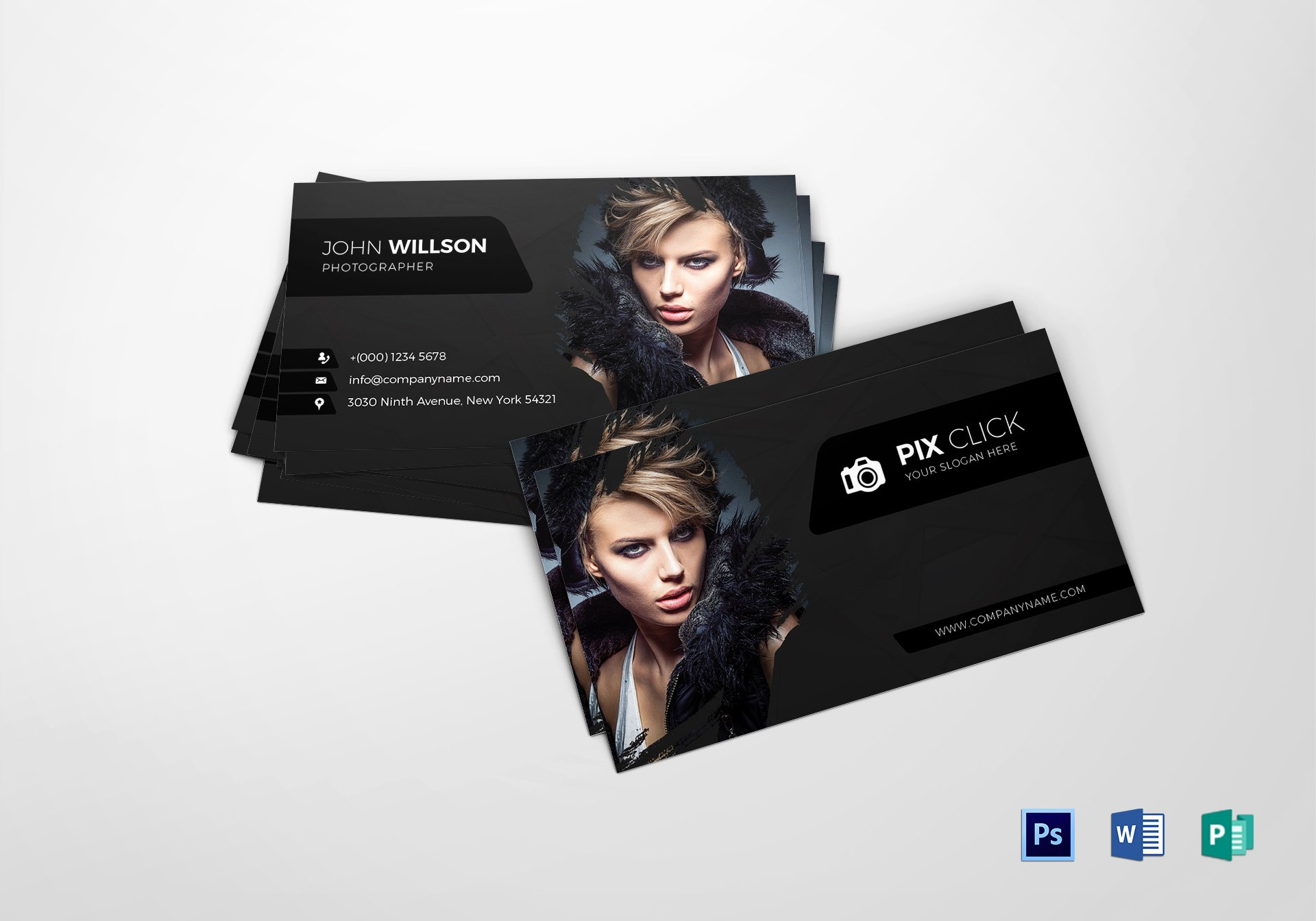 Grapher Business Card Design Template In Psd Word