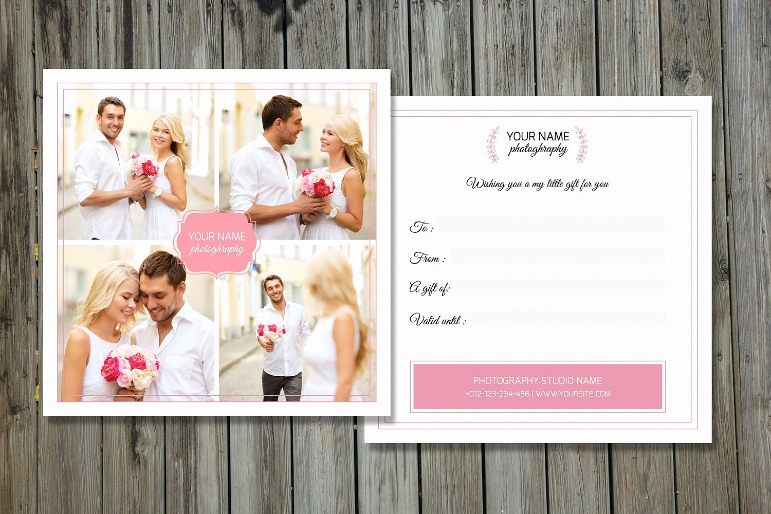 Grapher Gift Certificate V01 Card Templates