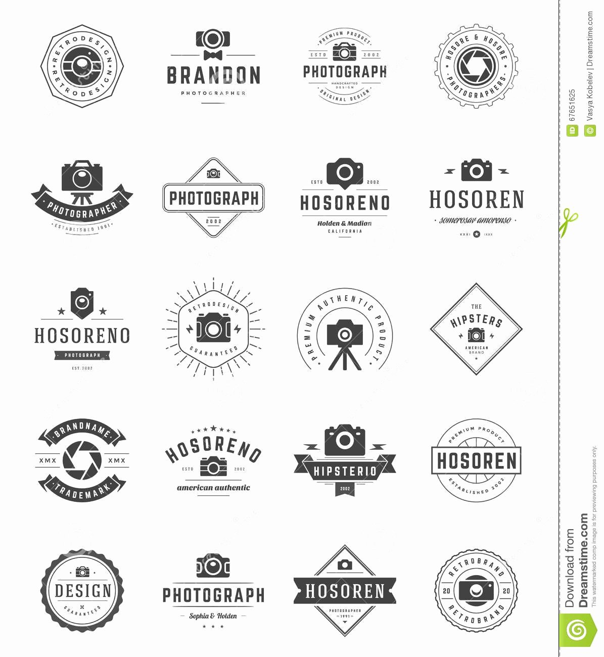 Grapher Logo Templates Set Vector Design Element