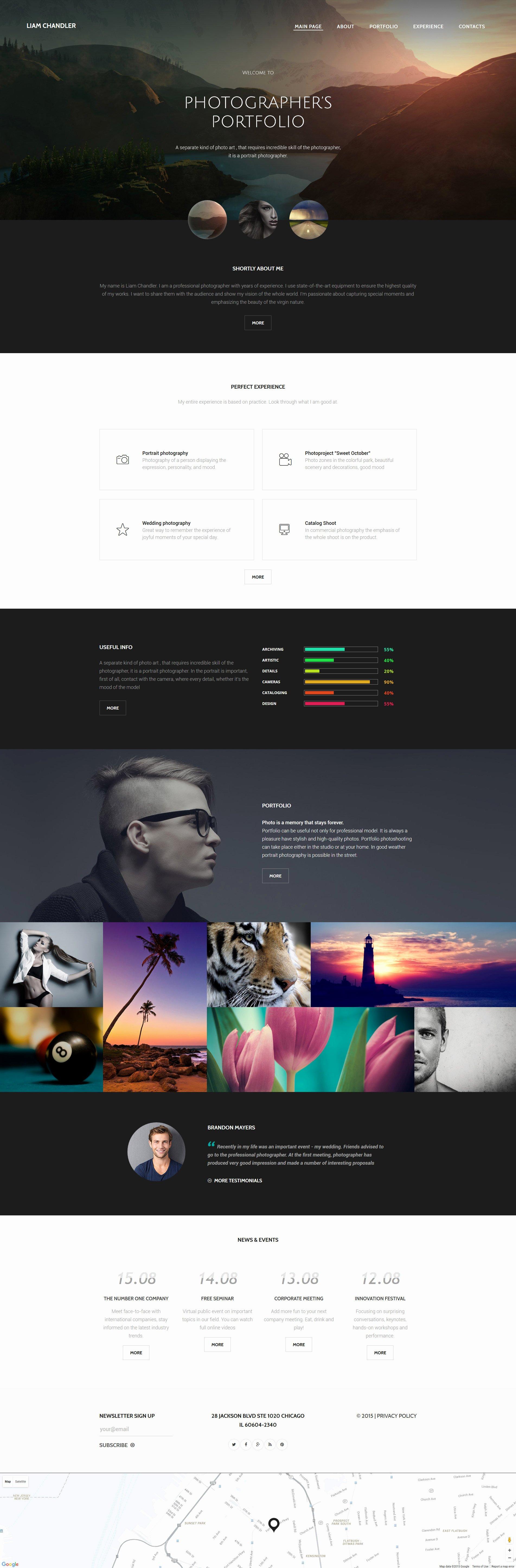 Grapher Portfolio Website Template