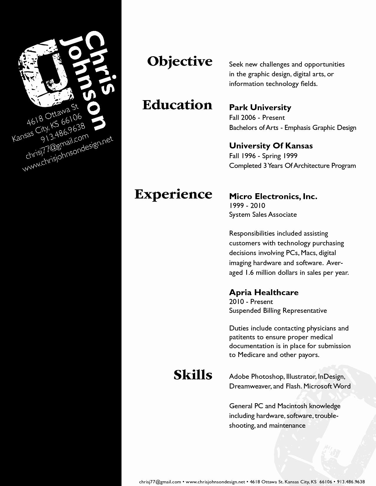 Graphic Artist Resume Objective